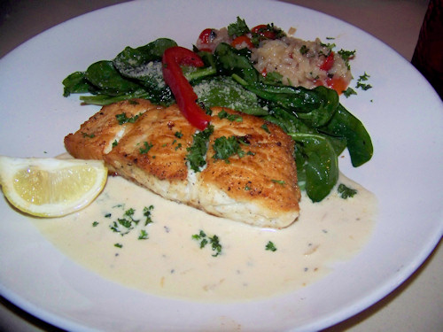 Halibut with Risotto
