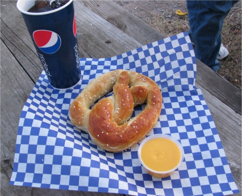 We can't pass up a soft, warm pretzel.